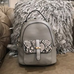 NWT Grey small backpack